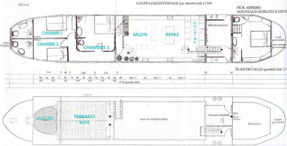 plan p niche freycinet am nag e en bateau logement projets essayer pinterest p niches. Black Bedroom Furniture Sets. Home Design Ideas