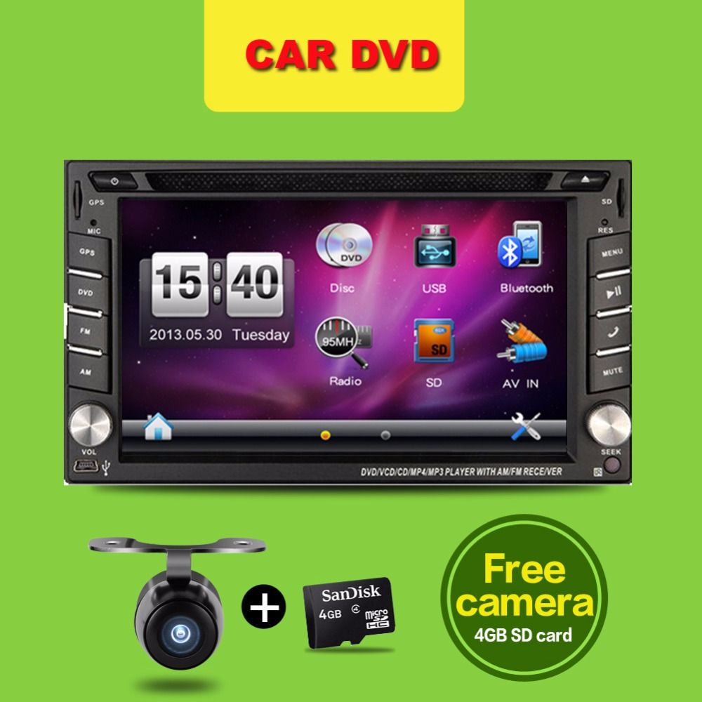 Din Car Dvd Player   Gps Navigation In Dash Steering Wheel Stereo Bluetooth