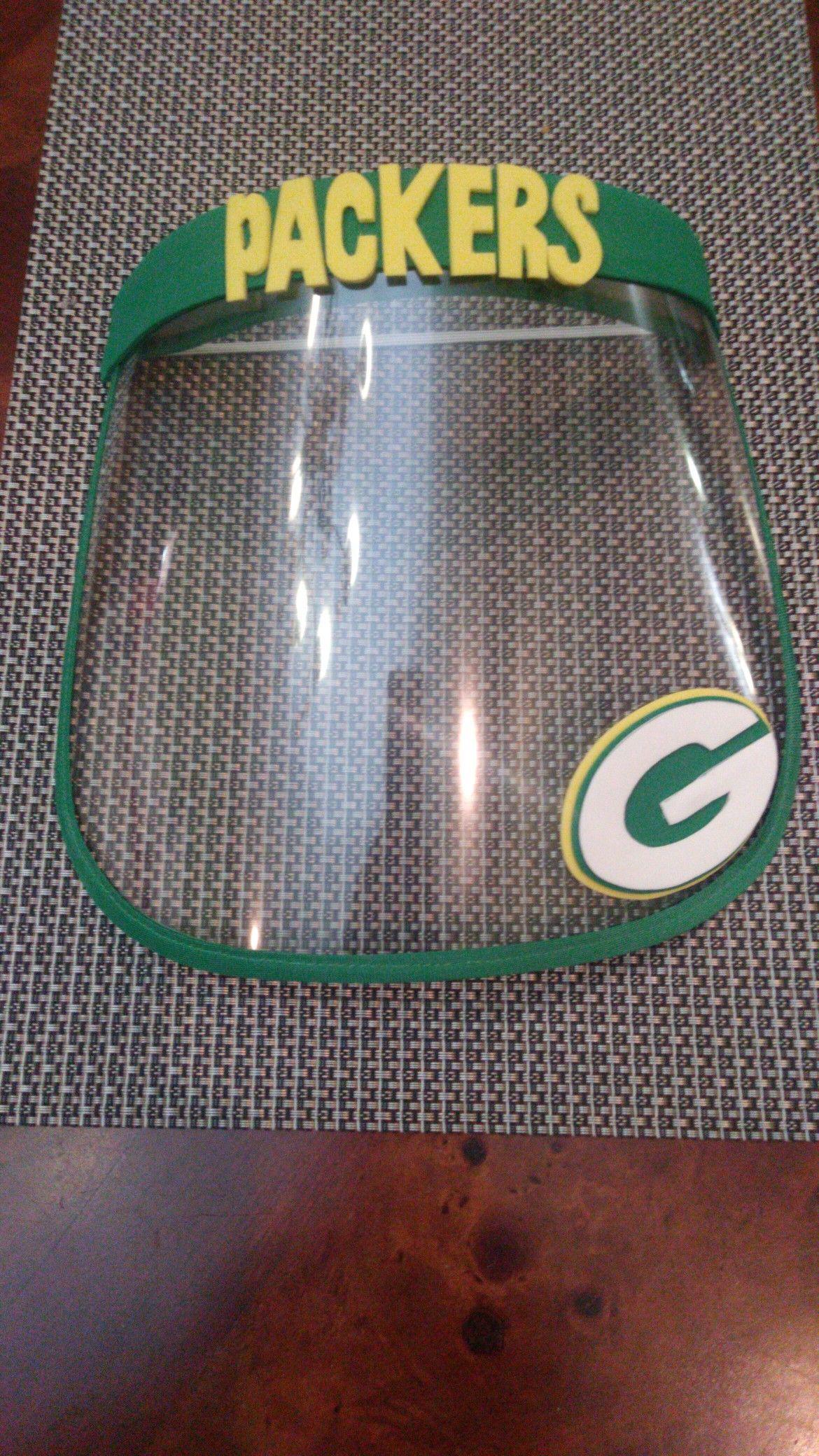 Packers Face Shield Packers Careta De Acetato In 2020 Face Mask Kiddos Packers