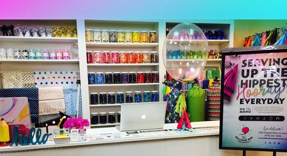 Resultado de imagem para balloon bar Party stores Balloon shop
