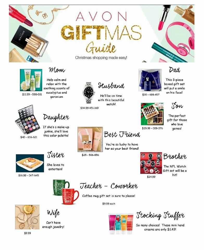 Avon gifts guide holidays