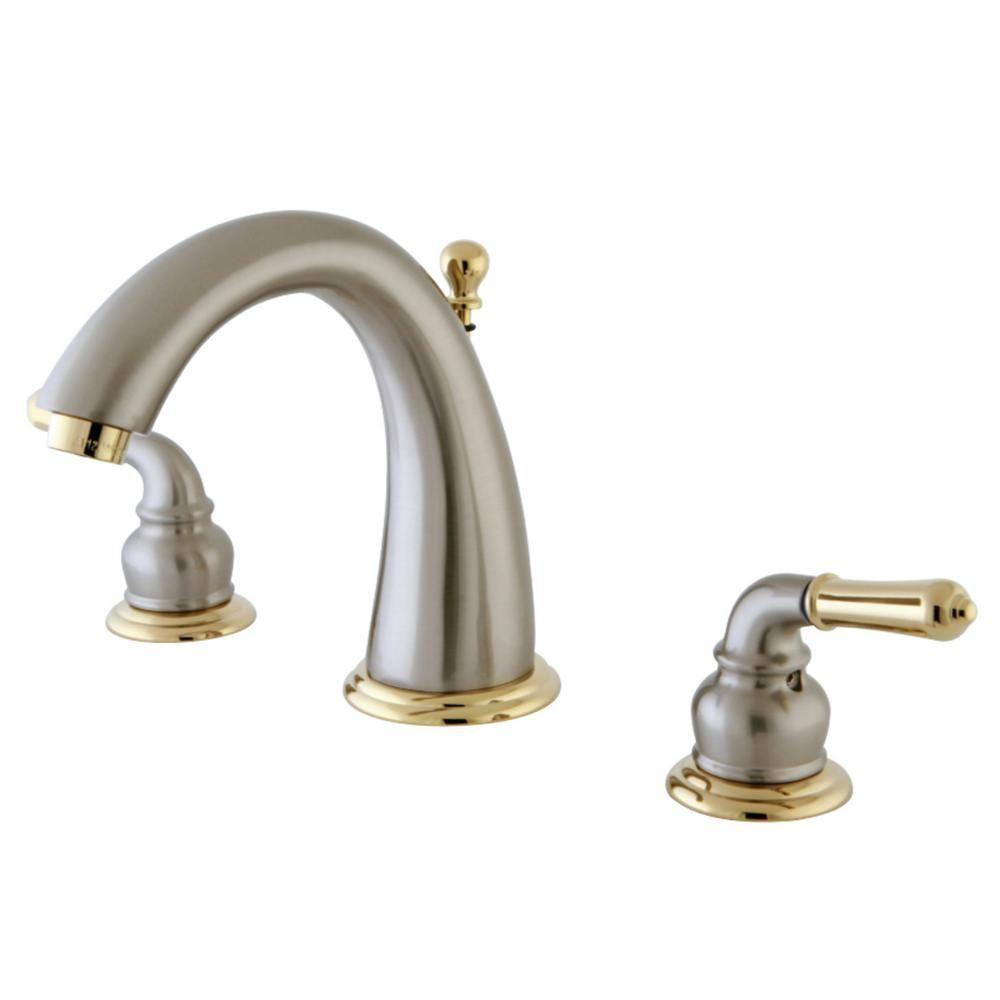 Kingston Brass Naples 8 In Widespread 2 Handle Bathroom Faucet In