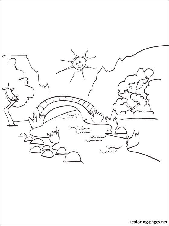 Summer Landscape Coloring Page Coloring Pages Summer Landscape Coloring Pages Landscape