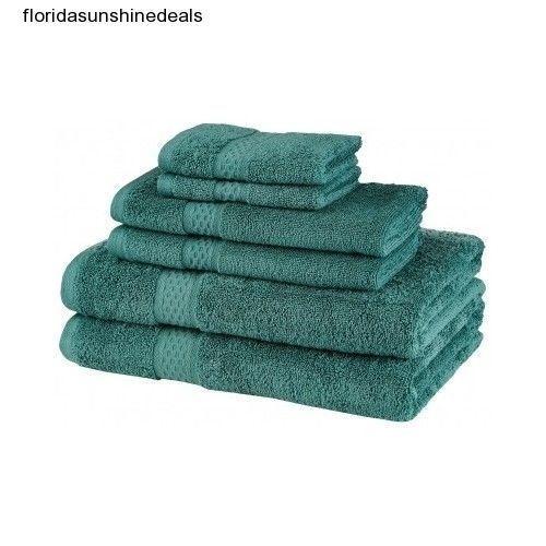 Teal Bathroom Towels Luxury Hand Towel Skin Make Up Plush Washcloths Bath Set