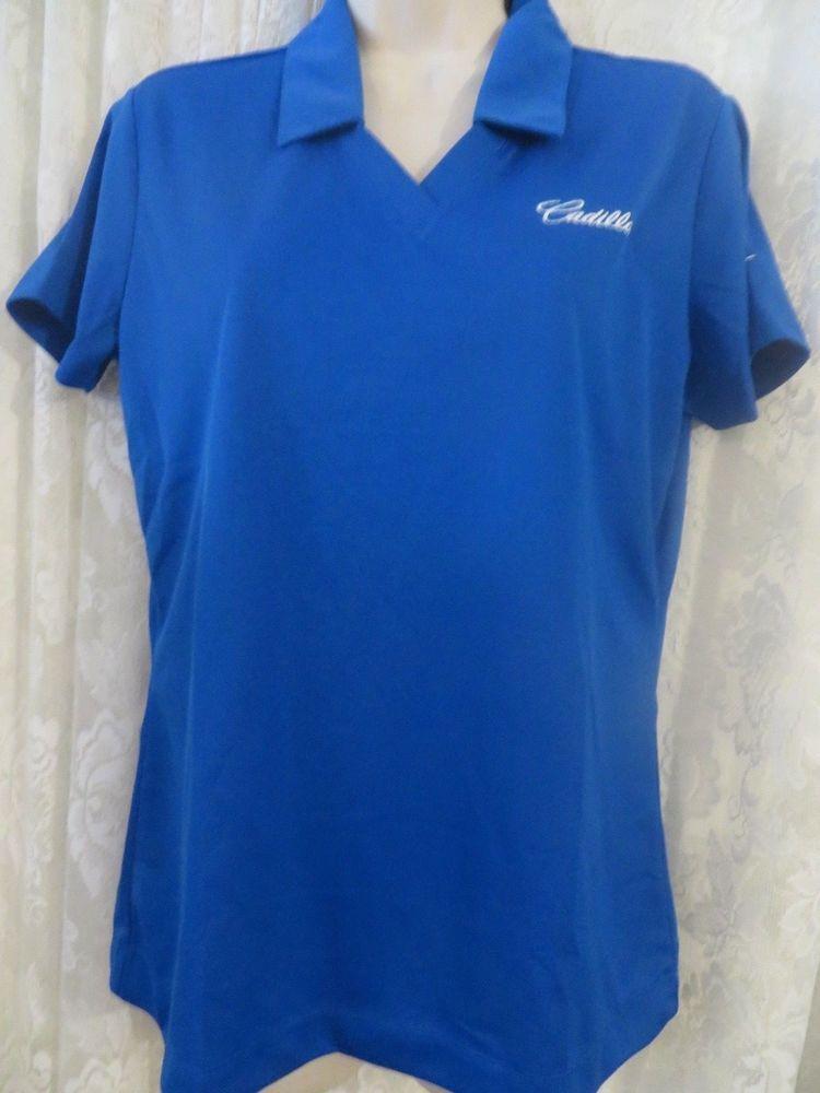 Nike Golf Womens Polo Cadillac Logo Size Medium Dri Fit Shirt