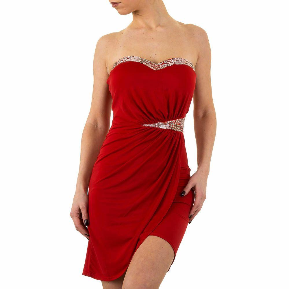 KURZES COCKTAIL DAMEN KLEID 11 Rot 11 - Rotes Kleid - Ideen von