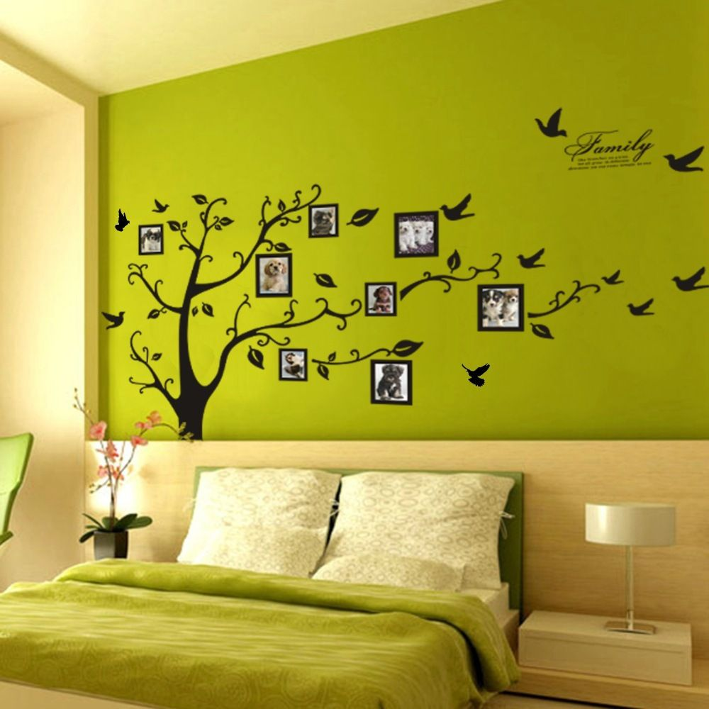 huge family tree ,photo frame wall decals livingroom home decor ...