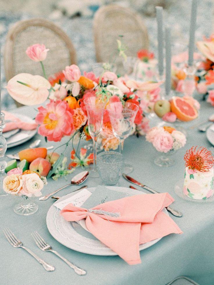 Photo of Coastal Wedding Inspiration Bursting with Bright Peonies ⋆ Ruffled