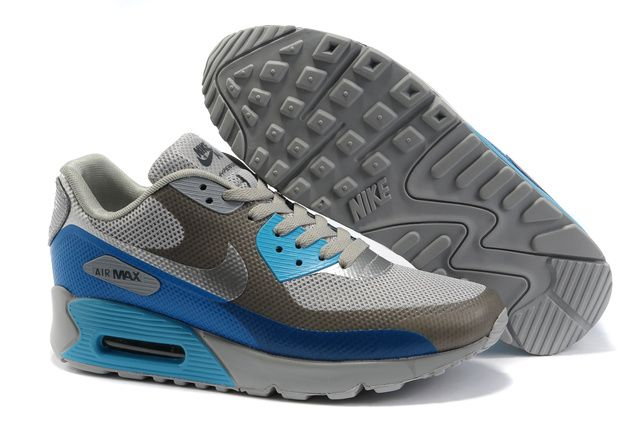 los angeles 720e5 c11f1 ... where can i buy nike air max 90 femmes gris bleu argente chaussures  d52fd af9c3 ...