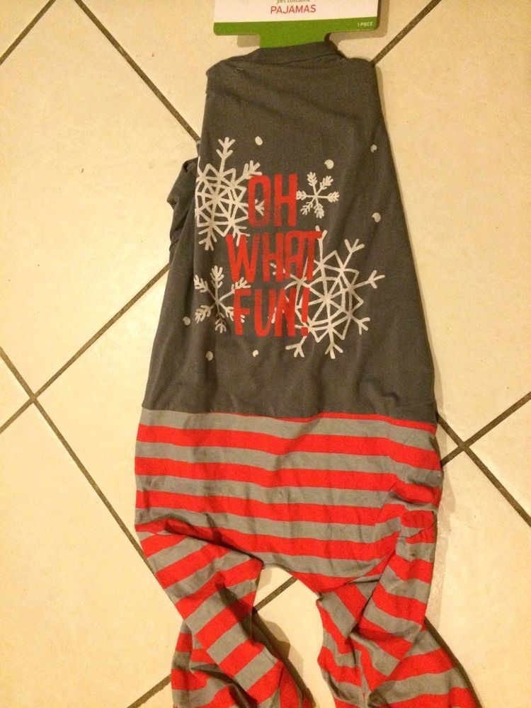 NEW O What Fun HOLIDAY PET PAJAMAS for DOGS XL Extra Large