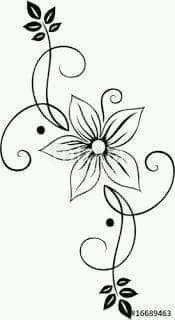 Pin Von Raman Virk Auf Bordado Vektor Blumen Blumenzeichnung Blumen Vorlage