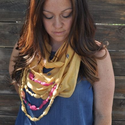 Eternal Beaded Scarf (Lush Rainforest)