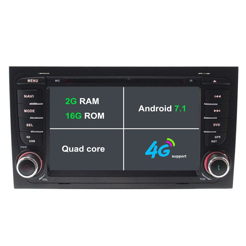 Android 7 1 Car Dvd Player For Audi A4 S4 2002 2008 Car Radio Gps Navigation Car Stereo Tape Recorder 2g Ram 3g 4g Wifi Bt Sw Car Dvd Players Car Gps Car Radio