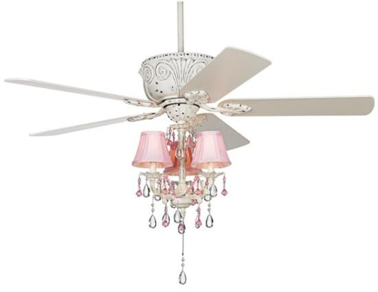 Chandelier with ceiling fan need this for her new room bows lighting for girls room coastal casa deville pretty in pink pull chain ceiling fan eclectic ceiling fans i love this because i hate giving up a fan for a aloadofball Gallery