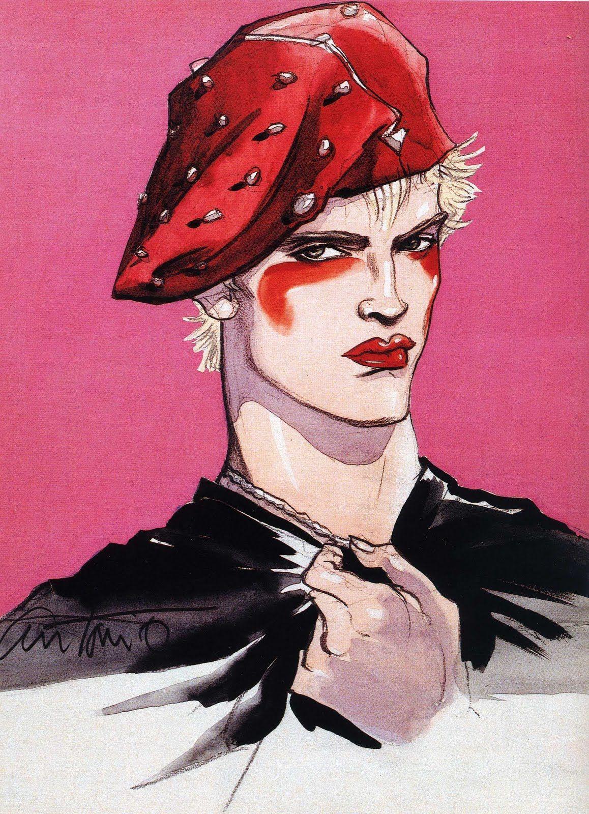 Antonio Lopez Billy Idol Ilustracion De Moda Ilustracion