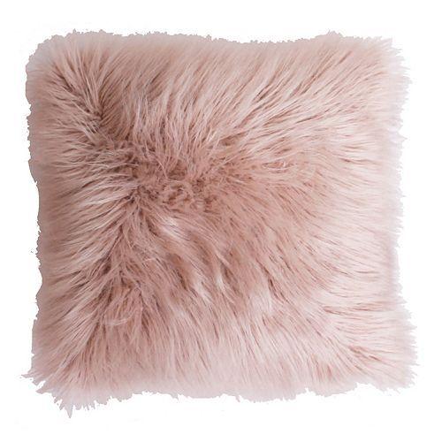 Thro By Marlo Lorenz Keller Faux Fur Throw Pillow Pink