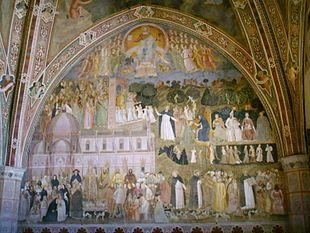 Andrea di Bonaiuto, Firenze, Cappellone degli Spagnoli: La Chiesa militante e trionfante