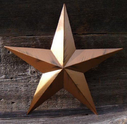 Heavy Duty 22 Gauge Handcrafted Metal Tin Barn Stars Painted In Your Choice  Of 25 Colors And 2 Different Types Of Paint Coverage.