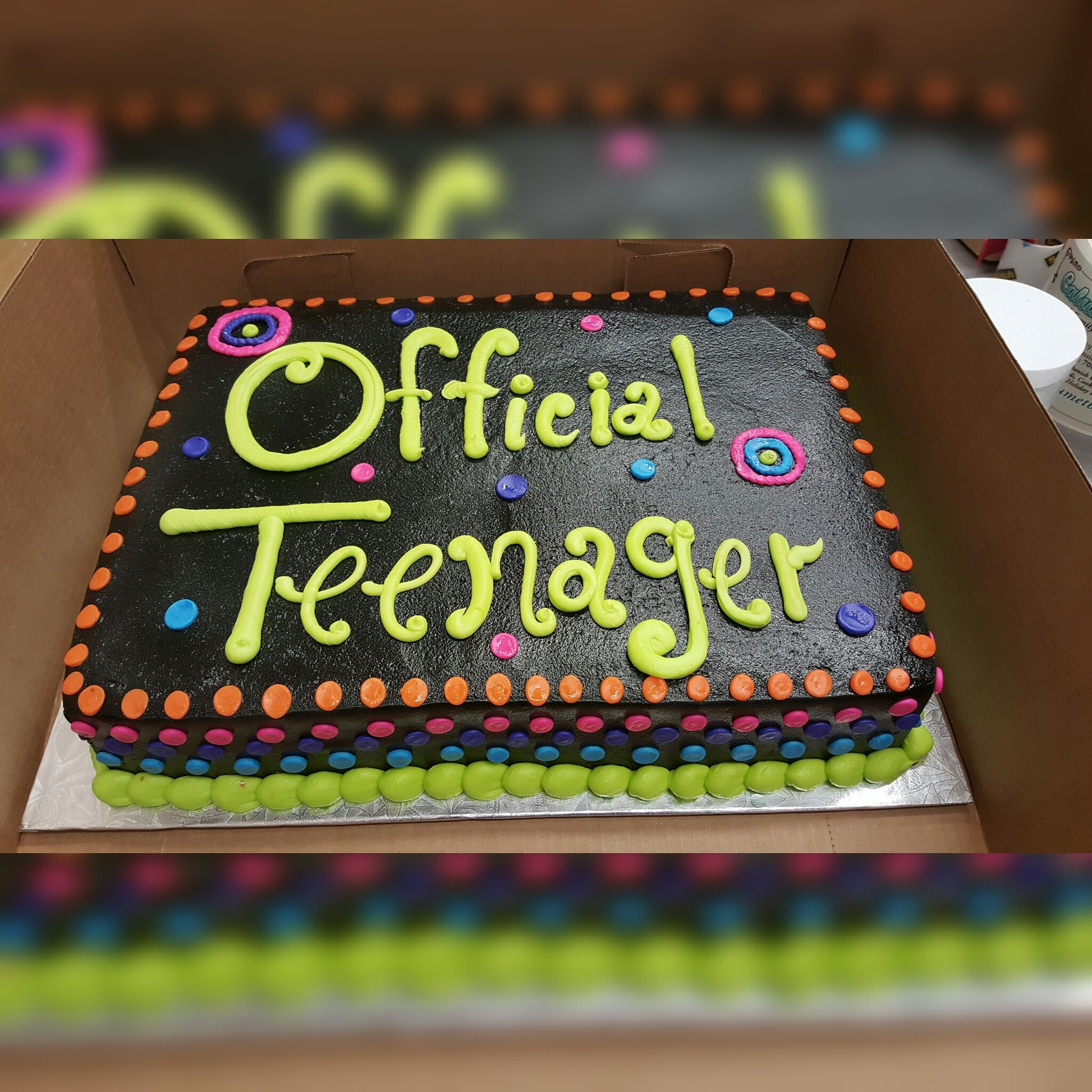 Calumet Bakery Official Teenager Cake 13th Birthday