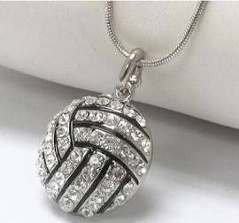Volleyball Necklace Volleyball Necklace Volleyball Jewelry Volleyball