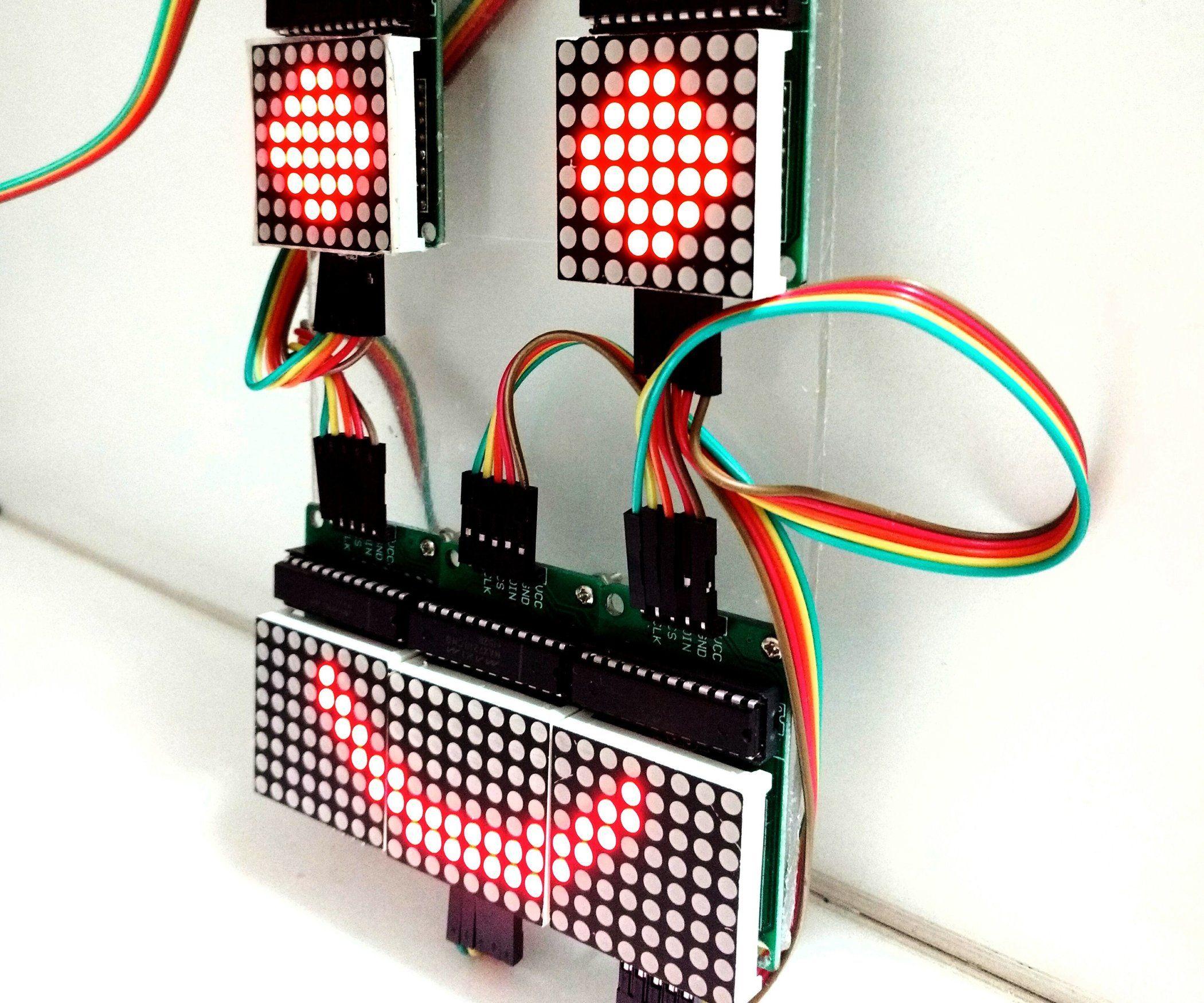 Controlling LED Matrix Array With Arduino Uno (Arduino