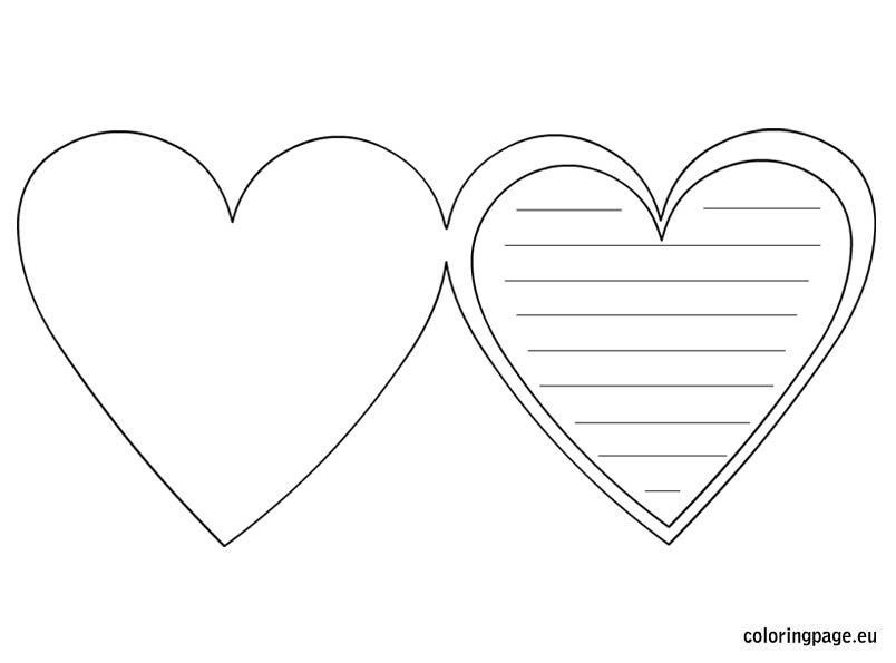 heart-card-template OMALOVÁNKY A ŠABLONY Pinterest Heart - friendship card template