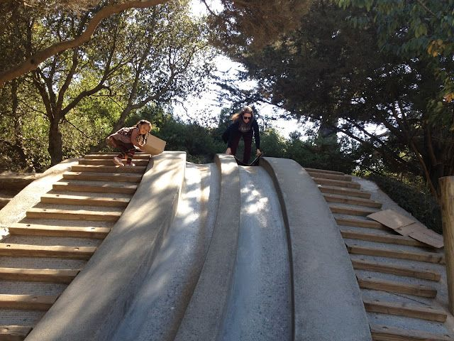 san francisco slides located in the children's quarter of golden gate park!