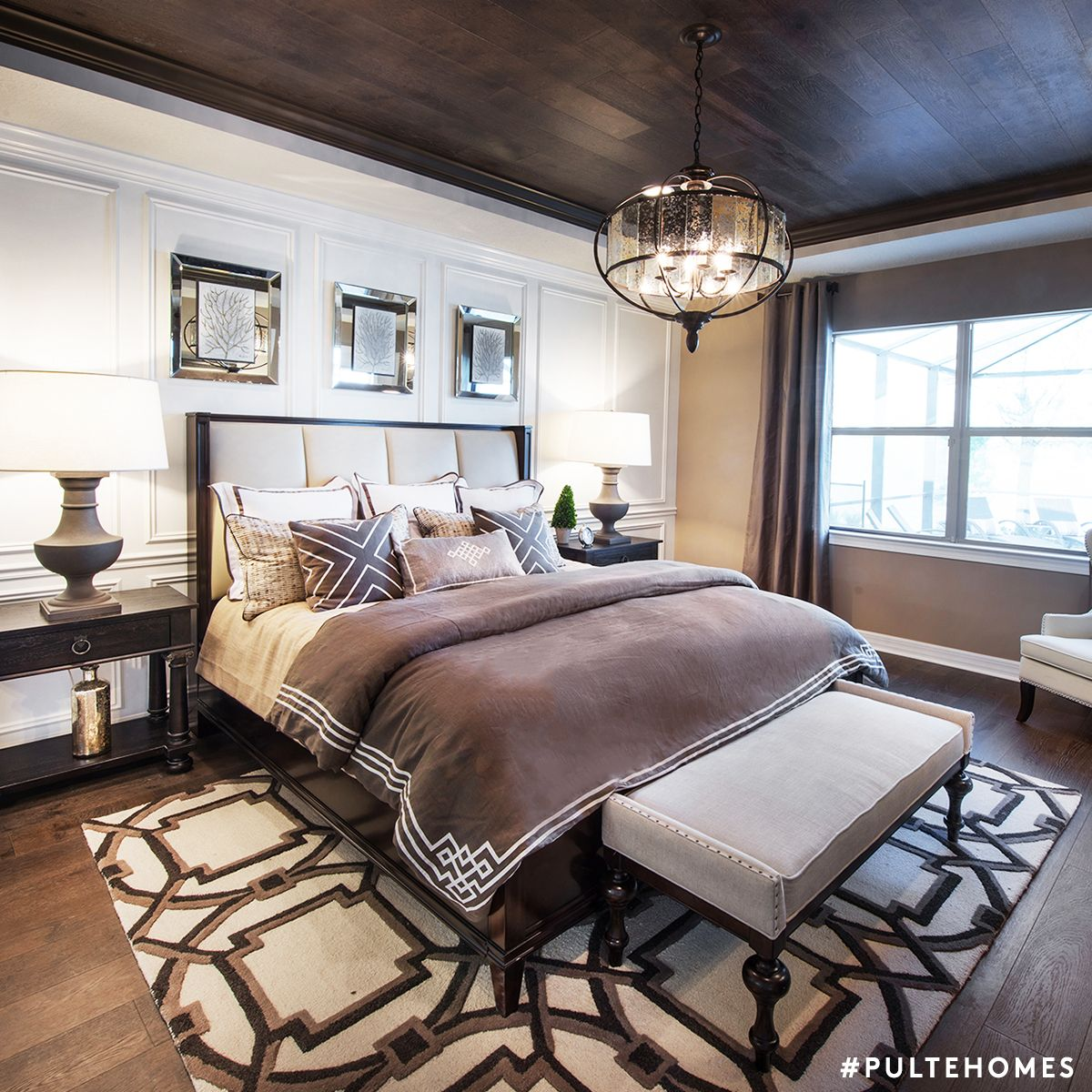 Design Tip: Balance Rich, Masculine Browns With Chic