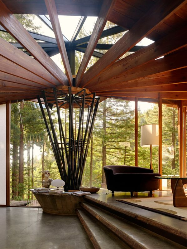 a mid century tree house in mill valley radius house architecture embraces nature. Black Bedroom Furniture Sets. Home Design Ideas