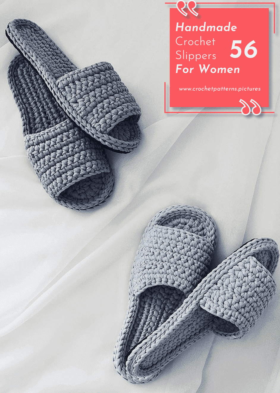 Photo of 56+ Crochet Slippers Designs With Modern Patterns For Women. Model No: 23