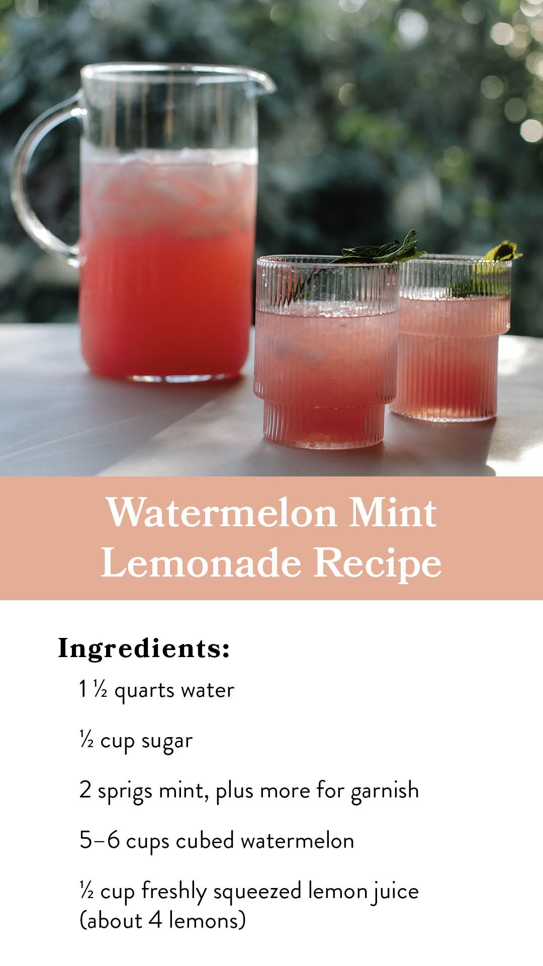Magnolia Journal Subscribe For 20 Free Shipping In 2020 Mint Lemonade Recipe Watermelon Mint Lemonade Mint Lemonade