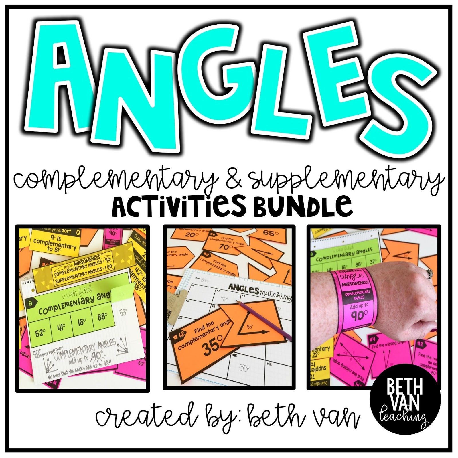 Complementary And Supplementary Angles Activities Perfect