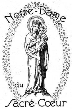 Coloriage Sainte Famille.Coloriage Notre Dame Du Sacre Coeur Issoudun La Sainte Famille
