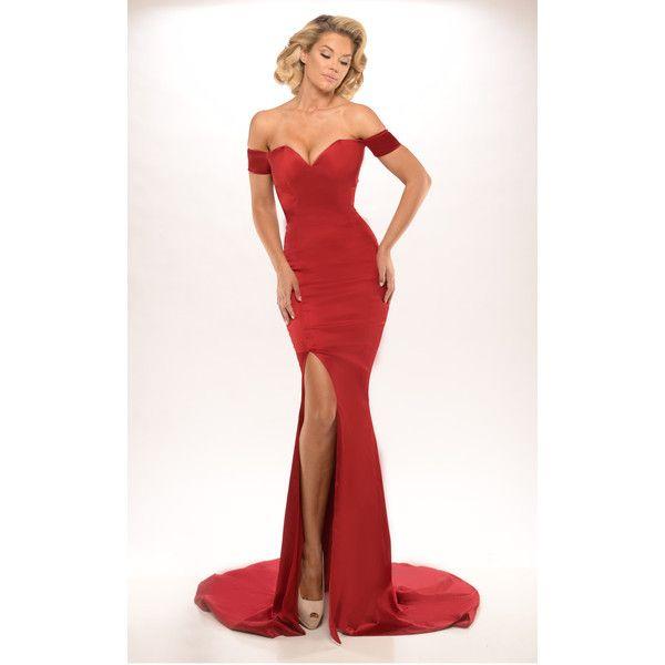 Portia Scarlett Australian Designer Karen Red Formal Dress 459