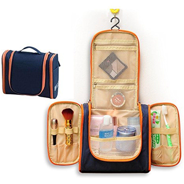 e83c7f267753 Hanging Travel Toiletry Cosmetic Bag - Sazooy Portable Makeup Bag ...