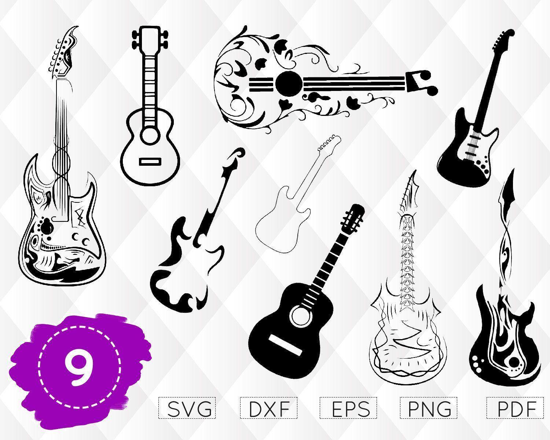 Guitar Svg Electric Guitar Svg Acoustic Guitar Rock Svg Guitar Monogram Vector Guitar Guitar Silh Guitar Drawing Best Acoustic Guitar Acoustic Guitar Art