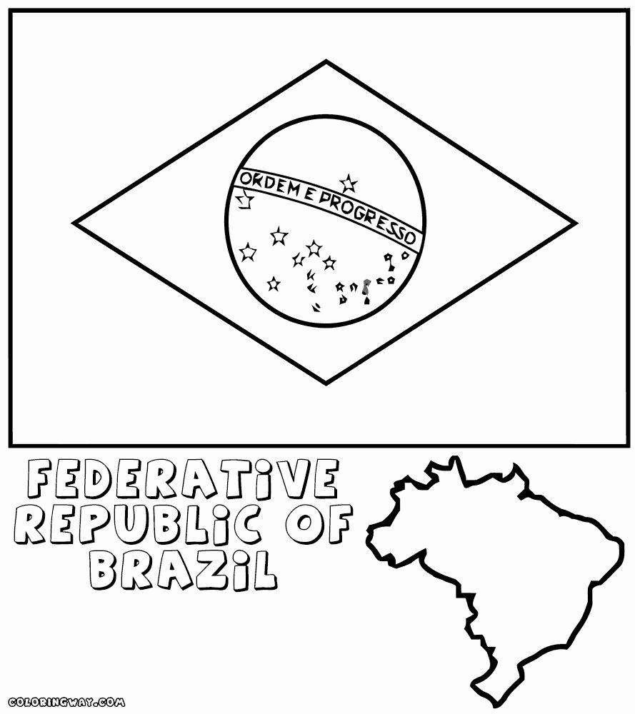 Brazil Flag Coloring Page Elegant Brazilian Flag Coloring Pages Flag Coloring Pages American Flag Coloring Page Coloring Pages