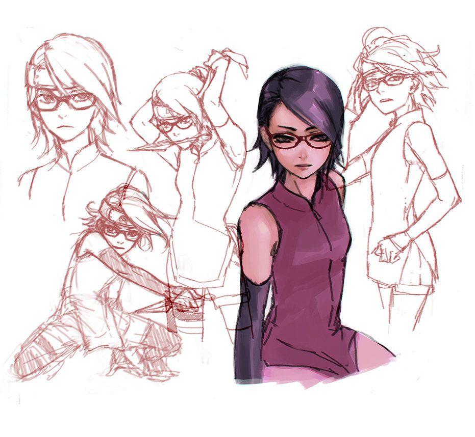 Naruto: Sarada doodles by IIclipse on DeviantArt