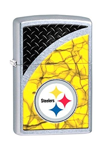 "NFL Football Pittsburgh Steelers Zippo Outdoor Indoor Windproof Lighter Free Custom Personalized Engraved Message Permanent Lifetime Engraving on Backside. Genuine Zippo Lighter with Distinctive Zippo Click. All metal construction; windproof design works virtually anywhere. Refillable for a lifetime of use; flints are replaceable. Made in the USA; ""Fix it free"" lifetime warranty. Personalized Lifetime Permanent Professional Engraving."