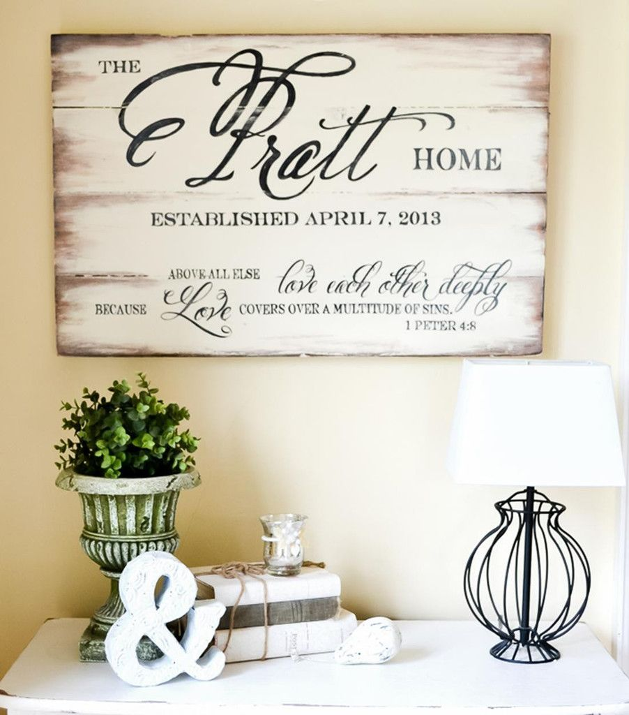 Family Name Sign | Madera, Casas y Interiores