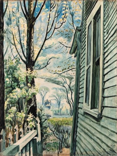 CHARLES BURCHFIELD House Corner in Spring