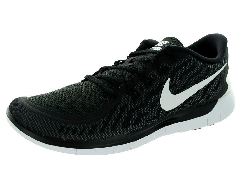 new style 6f1cd a5be6 Nike Men's Free 5.0 Running Shoes 724382 002 Black/White ...