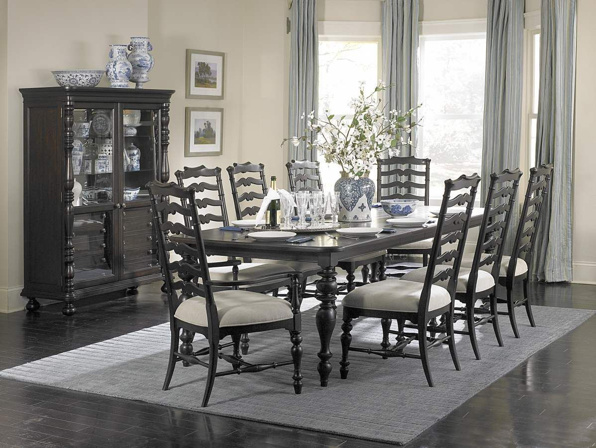 Extraordinary Black 9 Pc Dining Set