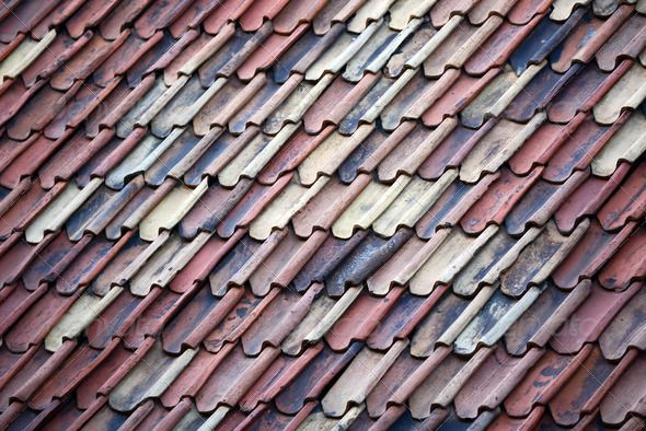 Old Roof Tiles Texture Background Realistic Photos
