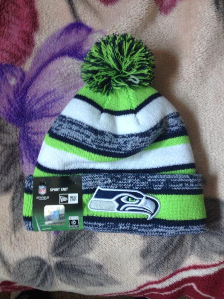 5fdb8db4571a05 Details about Seattle Seahawks Tech Knit Beanie NFL15 New Era On ...