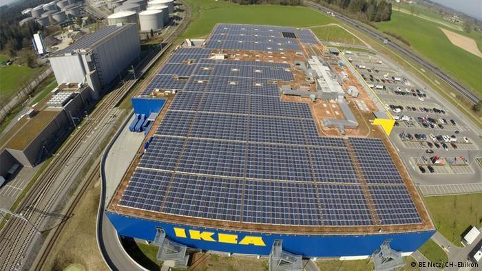 A Solar Powered Ikea Store In Rothenburg Switzerland Ikea Pledges