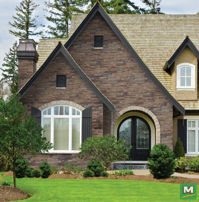 Get The Look Of Natural Stone Easily With Stone Master This Roma Manufactured Stone Veneer Sidin Manufactured Stone Veneer Stone Veneer Siding House Exterior