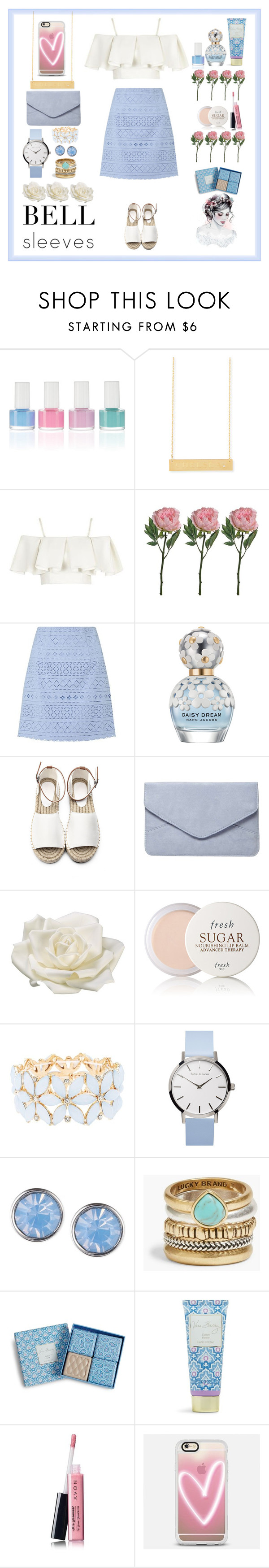 """""""Untitled #42"""" by aishaamer ❤ liked on Polyvore featuring Jennifer Zeuner, Topshop, Lipsy, Marc Jacobs, Dorothy Perkins, Allstate Floral, Fresh, Charlotte Russe, Lonna & Lilly and Lucky Brand"""