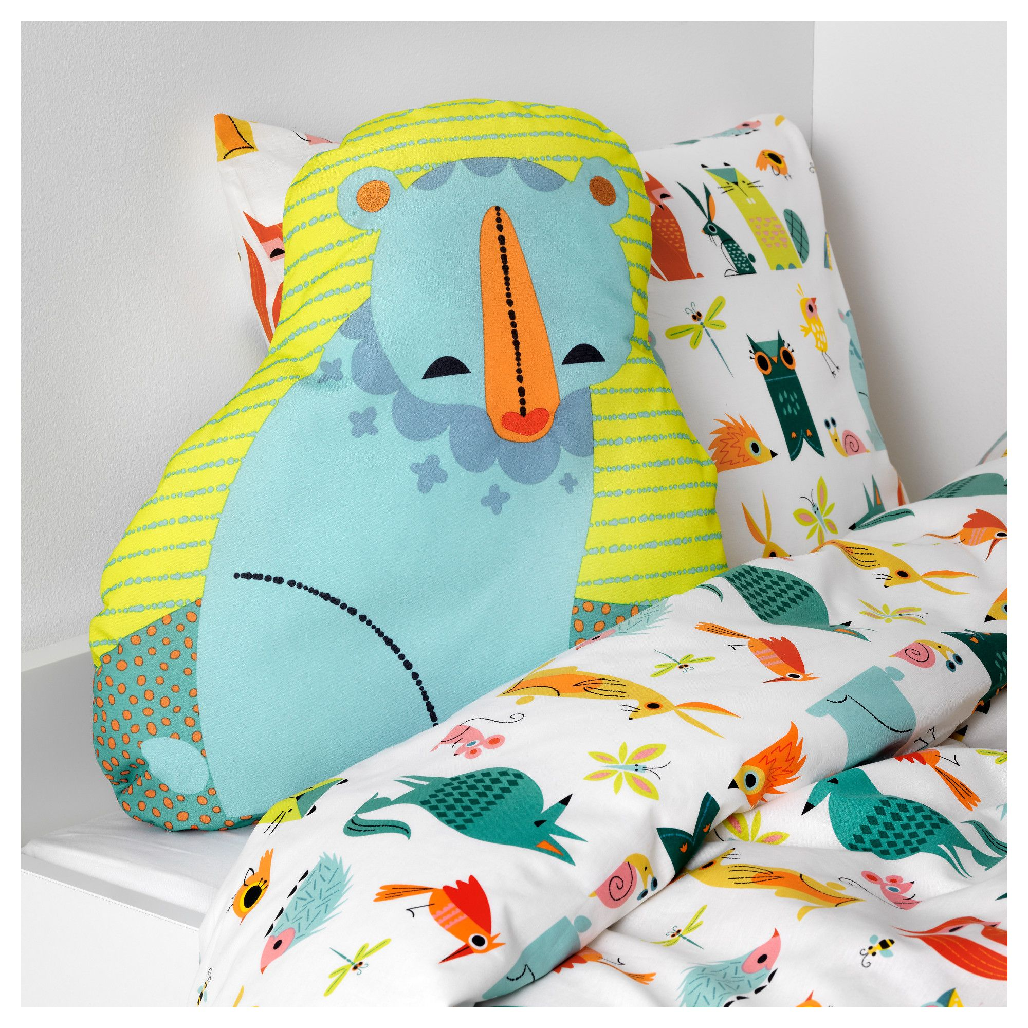 IKEA LATTJO Cushion bear, blue green Cushions ikea