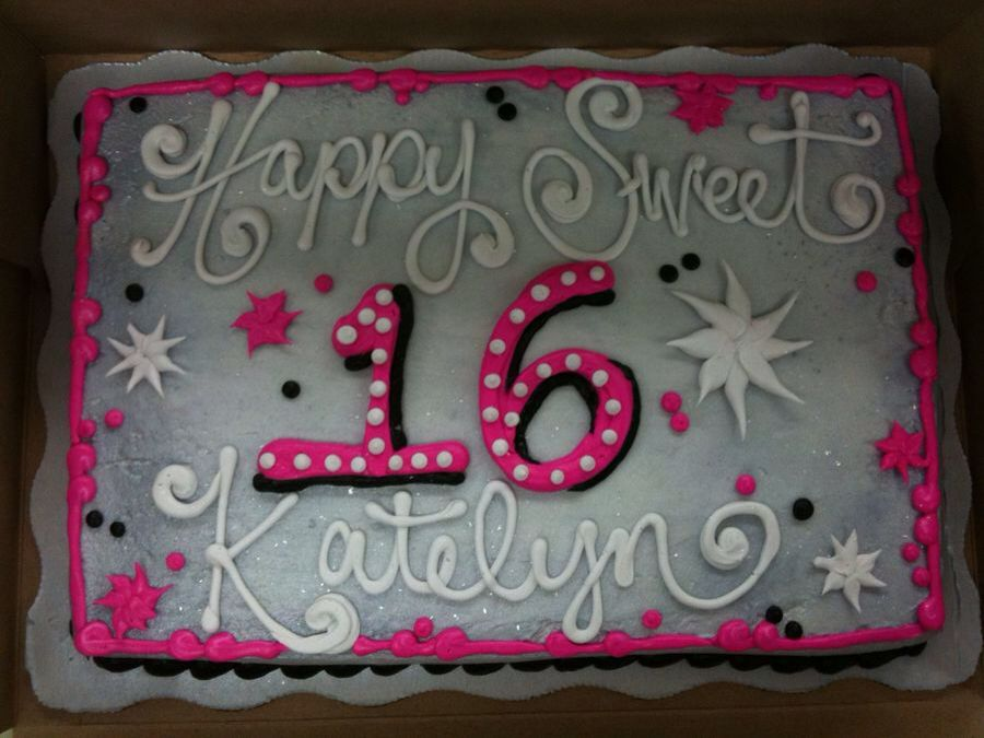 Miraculous Sweet 16 Cake Birthday Sheet Cakes Sweet 16 Birthday Cake 16 Personalised Birthday Cards Sponlily Jamesorg
